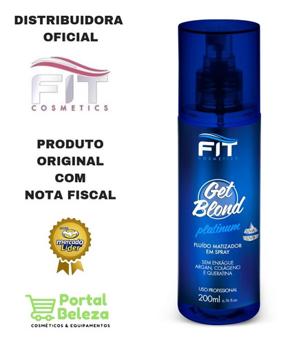 spray fluído matizador get blond fit cosmetics 200ml