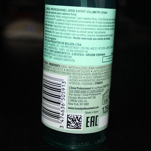 spray leave-in loreal profissional volumetry expert 125ml nf
