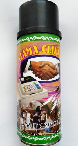 spray llama clientes - atrae clientes dinero y exito