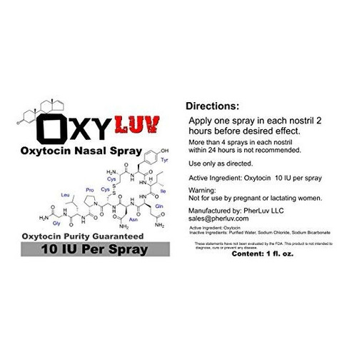 spray nasal oxytocin de oxy luv