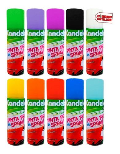 spray pinta pelo color candela 80g pack x6- cuidad cotillón