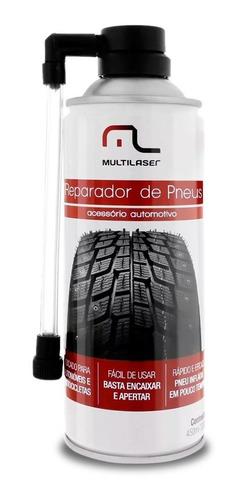 spray reparador de pneus carro e moto tapa furo multilaser