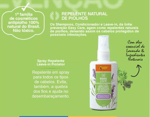 spray repelente antipiolho 100% natural leave in easy care