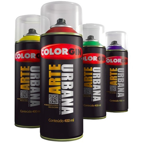 spray tinta graffiti arte urbana colorgin kit fechado 15 pçs