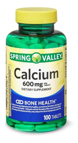 spring valley calcium 600 mg de 100 tabletas / super precio