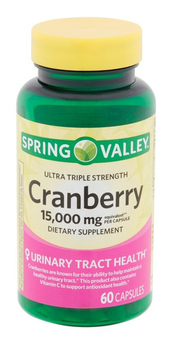 spring valley cranberry 15000 mg de 60 capsulas / oferta
