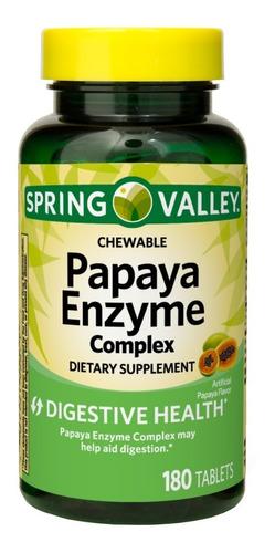 spring valley enzima de papaya de 180 tabletas / oferta.-