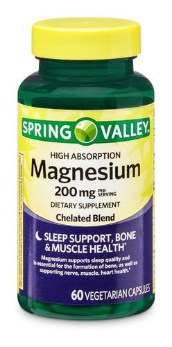 spring valley magnesium 200 mg de 60 tabletas / super precio
