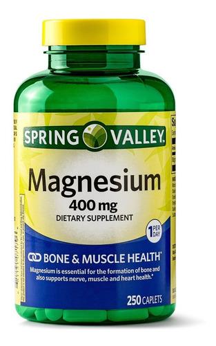 spring valley magnesium 400mg de 250 tabletas / super precio