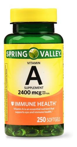 spring valley vitamin a de 250 capsulas / super precio.-
