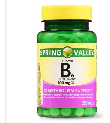 spring valley vitamin b6 de 250 capsulas / super precio.-