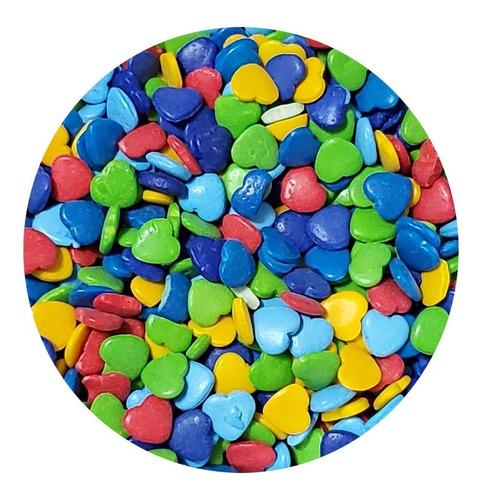 sprinkles corazones multicolor - 50grs / lauacu