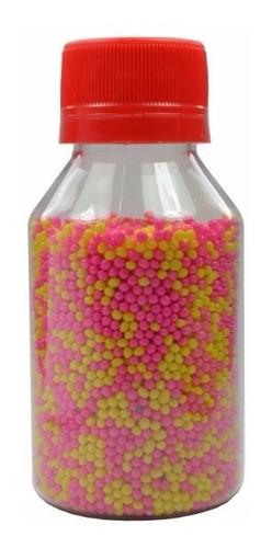 sprinkles grageas amarillo y rosa decoración cupcakes