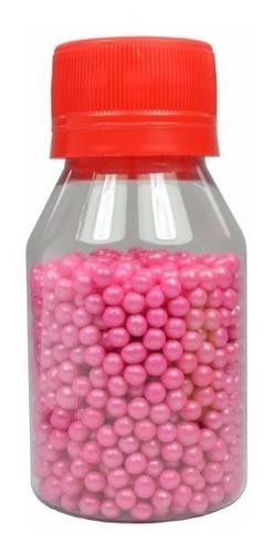 sprinkles grageas perlas rosa decoración cupcakes