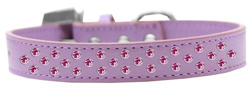 sprinkles perro collar brillante rosa cristales tamaño 12 l