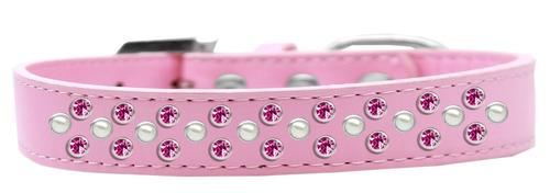 sprinkles perro collar perla y brillante rosa cristales tama