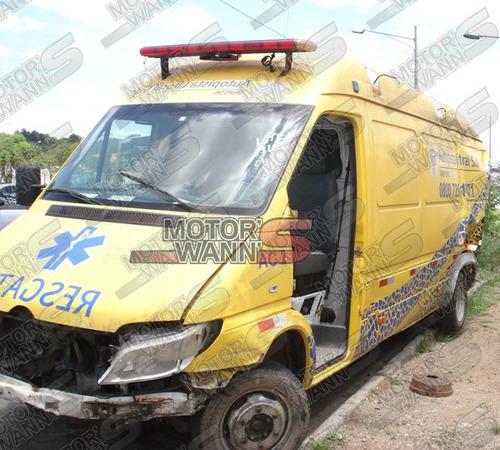 sprinter 2008 412 rodado duplo sucata para retirada de peças