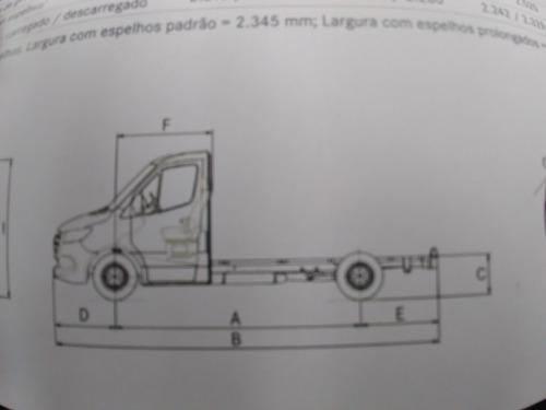 sprinter chassis 416 branca 3,66ee 2020/21 1km