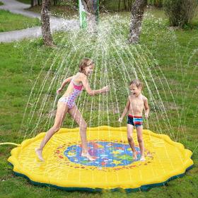 Sprler Splash Pad Água Spray Play Mat Pad Amarelo 170x170cm