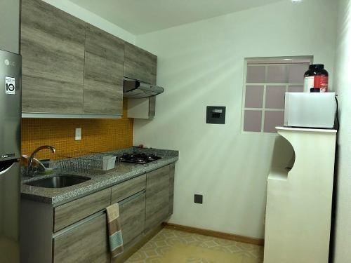 spv departamento en renta amueblado en colonia roma norte.