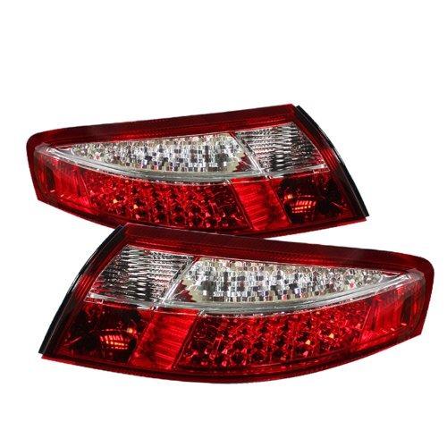 spyder auto alt-on-p99699- led - rc porsche 996 rojo / clear