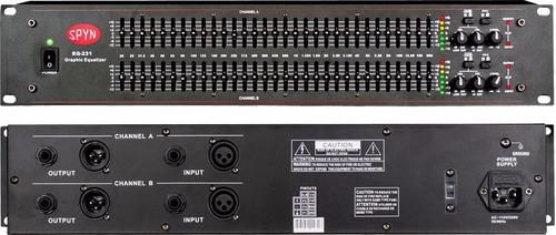 spyn eq231 equalizador 31 bandas doble