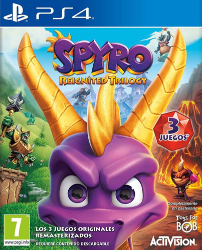 spyro reignited trilogy ps4. fisico. sellado. español
