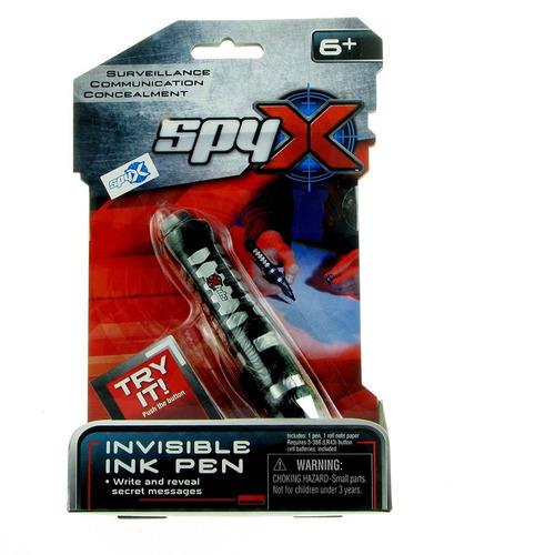spyx / invisible ink pen - escribir y leer me + envio gratis