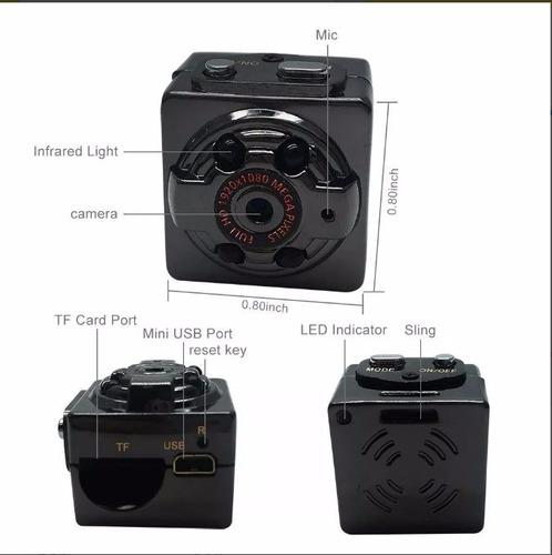 sq8 camara espía, infrarroja, detector de movimiento