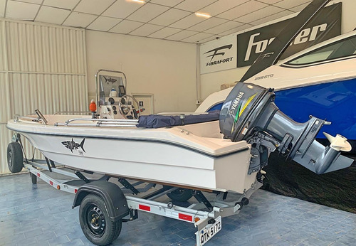 squalo fishing 155 + motor 40hp 2t yamaha + kit básico