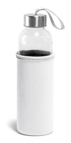 squeeze de vidro e aço inox c/ capa proteção corujinhas