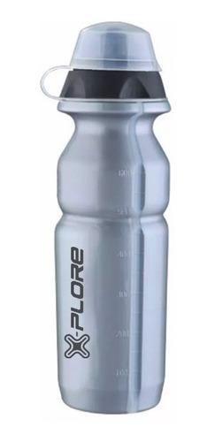squeeze garrafa água bike cinza 750ml x-plore caramanhola