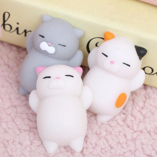squishy animal gatitos kawaii antiestres 6 pzas envío gratis