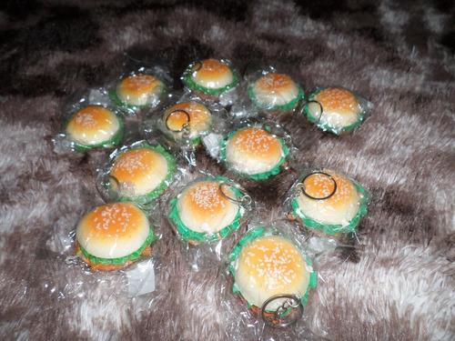 squishy hamburguesas (llaveros) x4 unidades.