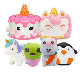 Juguete Antiestre Jumbo Animales Hermosos 6 Squishy Unidades Z0kwOnPX8N