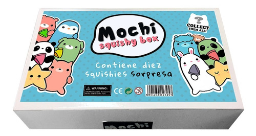 squishy mochi kawaii box caja x10 squishies animales gato