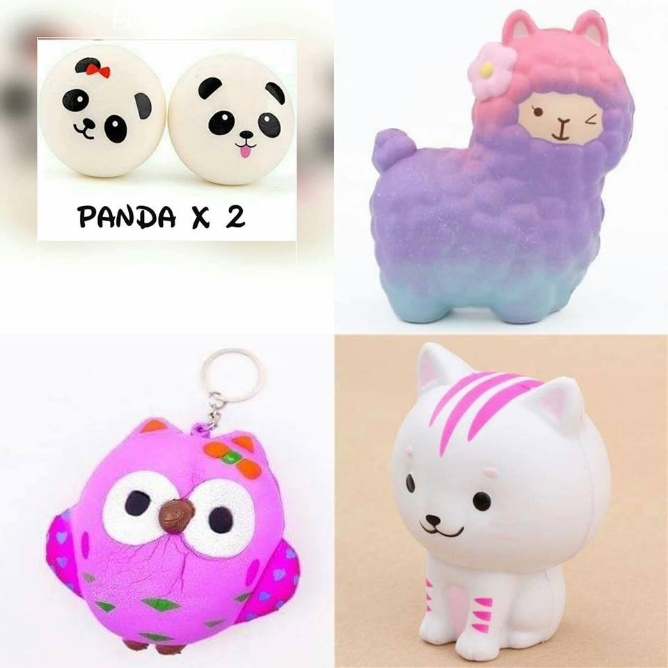 Squishy Squishie Perfumado Buho Panda X 2 Gatito Llama - $ 249,99 en ...