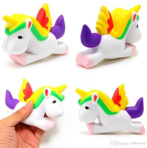 squishy unicornio 12cm antiestres perfumado / lhua store
