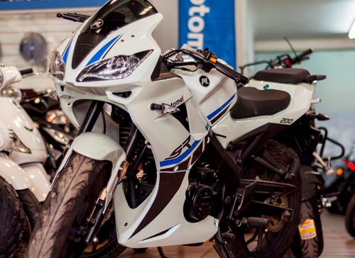 sr 200 r motomel  2018  moto pista deportiva megamoto moreno