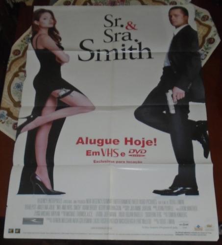 sr e sra smith poster gigante filme 2005 brad pitt angelina