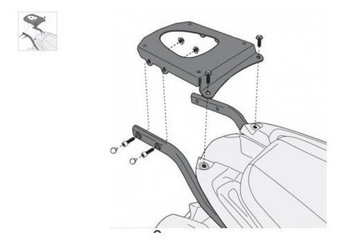 sr6404 givi - suporte traseiro para baús monokey