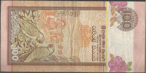 sri lanka 100 rupias 1 jul 1992 p105c