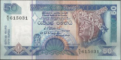 sri lanka 50 rupias 1 ene 1991 p104a