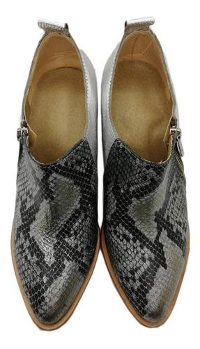 ss19 botinetas cierre cuero blanco negro print botas plata