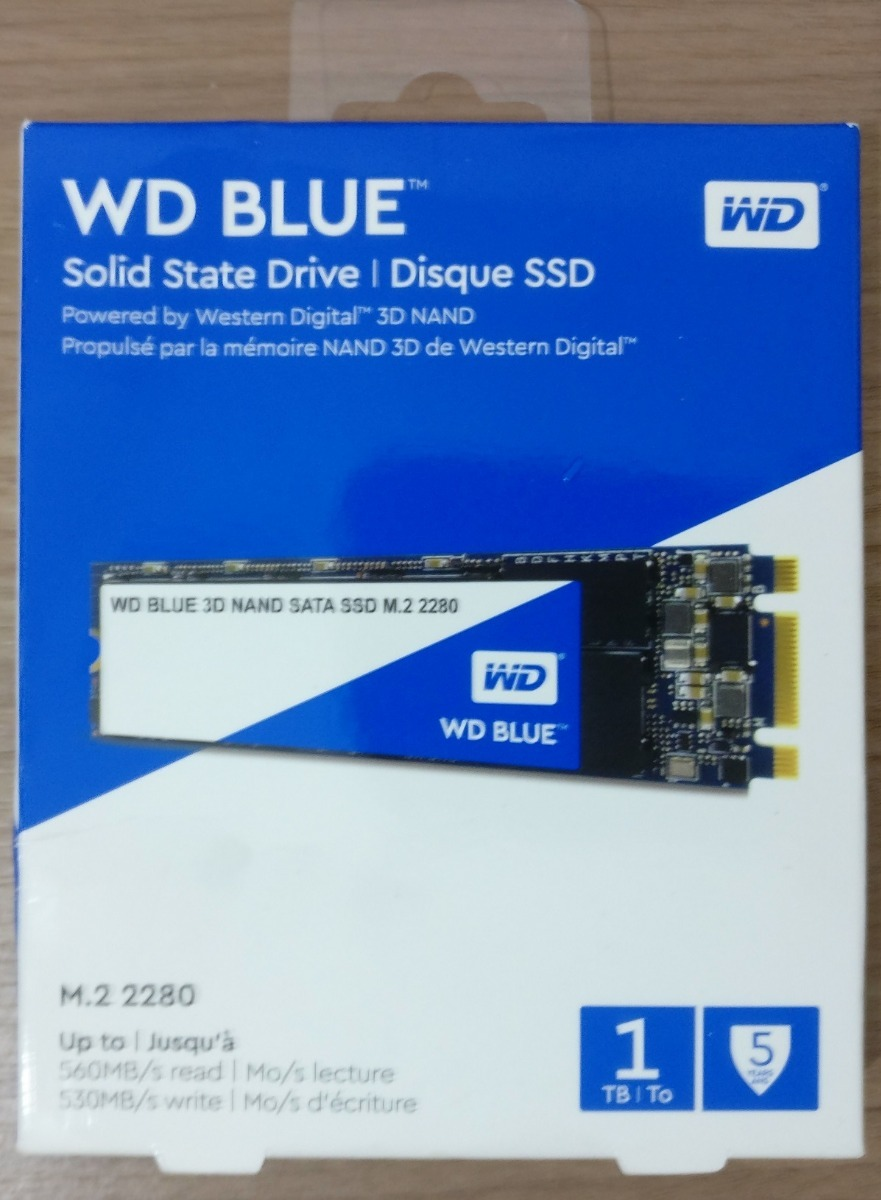 SATA III 6 Gb//s M.2 2280 SSD WDS100T2B0B WD Blue 3D NAND 1TB PC SSD