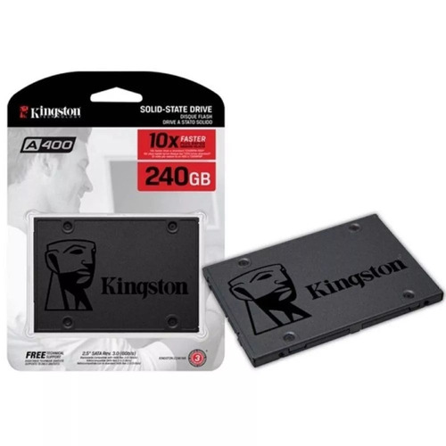 ssd 240gb kingston a400 sata 3b6gb/s 2.5 pol. lacrado