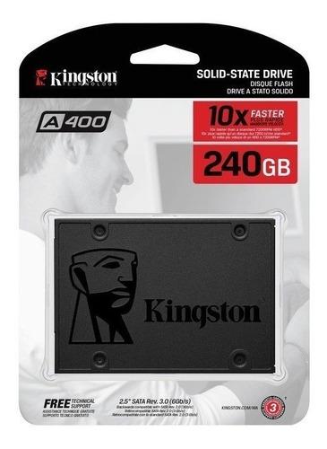 ssd 240gb kingston sa400s37/240g 2.5 pc y lap estado solido