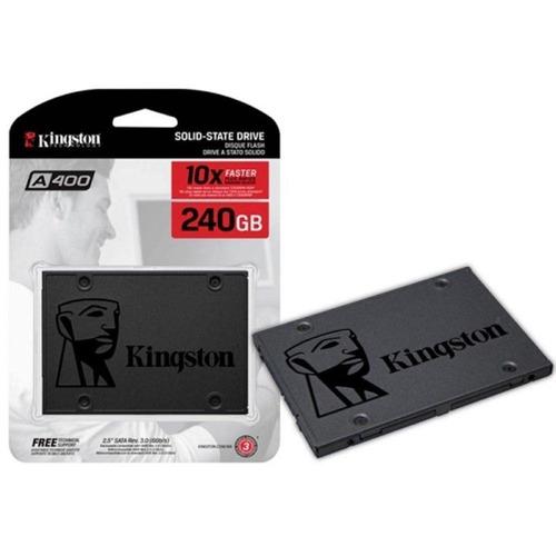 ssd 240gb kingston sata 6gb/s 2.5 pol. lacrado a400 500mb/s