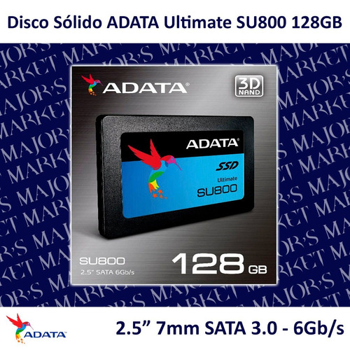 ssd 2.5'' 7mm adata ultimate su800 128gb sata 3.0 - 6gb/s
