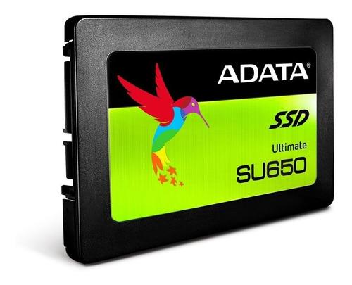 ssd adata su650 480gb asu650ss-480gt-r disco solido pc y lap